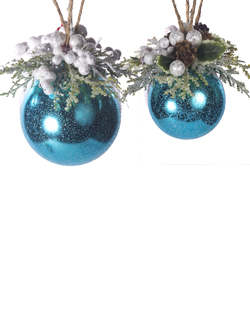 ORNAMENT (2 ASST) BLUE
